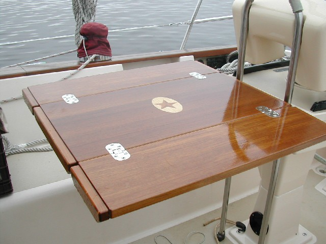Cockpit table specifications teak and plastic cockpit for Table design yacht
